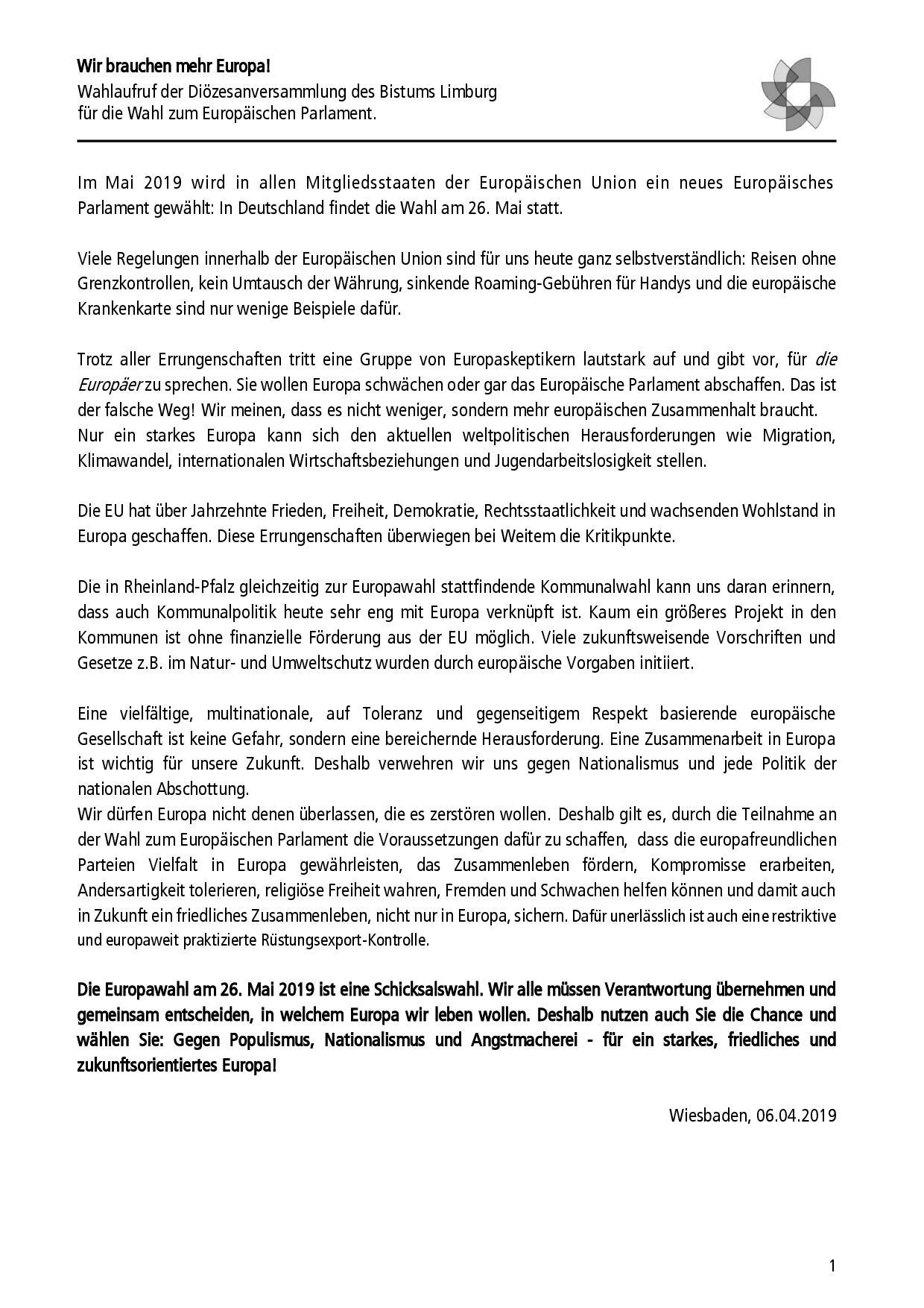 E 2019 7 Wahlaufruf Europawahl + Übersetzung FINAL-001
